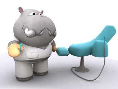 3d hippo