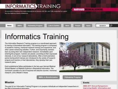 Drupal website for Harvard biomedical research institute