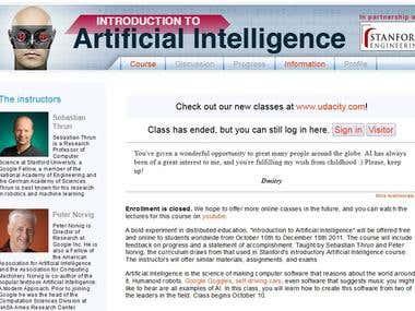 Online Artificial Intelligence Course Translation
