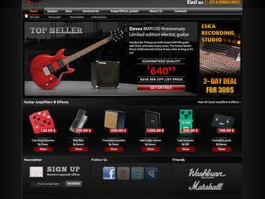 Guitar Shop Design