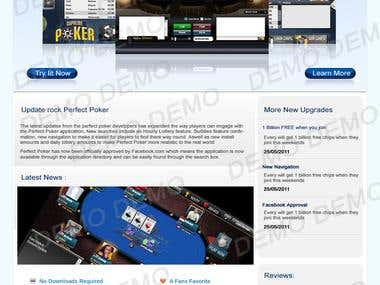 Website Design and development For Supreme Poker