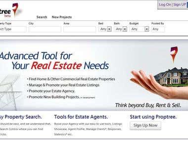 Real Estate Portal - www.proptree.com