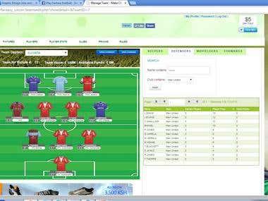 Fantasy Soccer Website