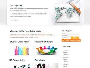Online Campus Knowledge Sharing System