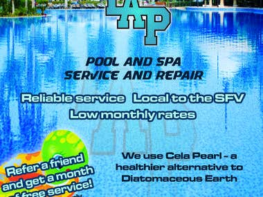 Flyer for a pool cleaning company