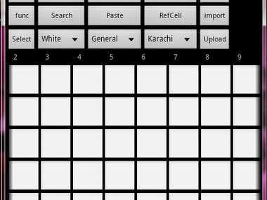 Make A DataSheet Like ExcelSheet, App