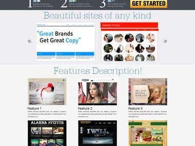 Free Website Template Design