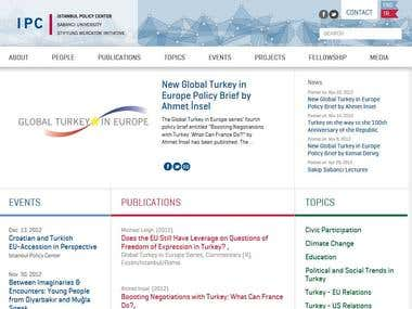 Istanbul Policy Center Website at Sabanci University