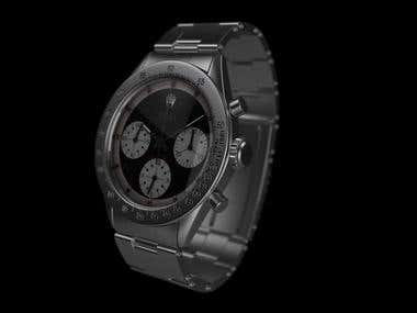 3d model of a hand watch