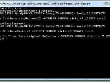 Sort function optimization