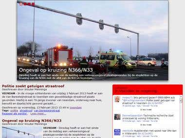 Joomla template for (dutch) news website