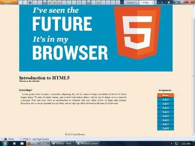 Basic HTML5 and CSS3 Design