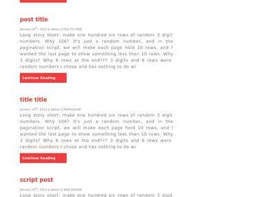 Blog site on web design and development