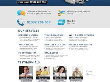 Website Design and development For Pc Doctor Derby