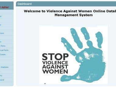 Online Portal for data collection on Voilance Against Women