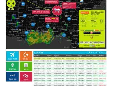 Flight Tracking UI for Windows 8