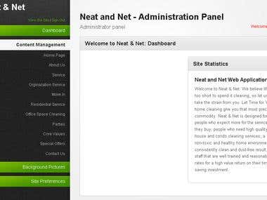 neat-and-net.com dynamic website admin panel