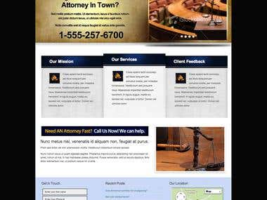 Full Wordpress Site for Attorneys