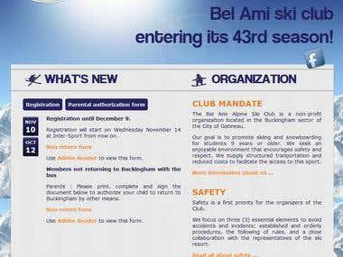 Bel Ami alpine ski club