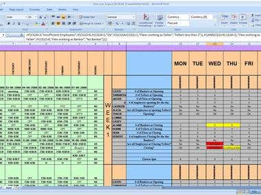 Excel template creation project - 2