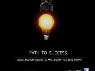 path to success poster design