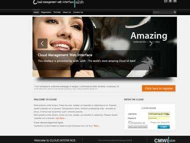 Cloud Management Web Interface