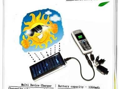 Designed Poster on Solar Energy Charger