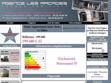 Création du site web pour une agence immobilière