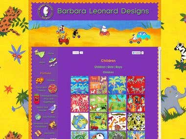 Website Barbara Leonard Designs