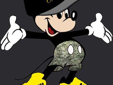 G'd up mickey mouse