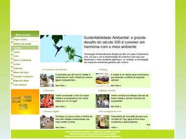 Site dinâmico - Cachoeiras do Amanary