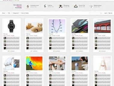 Website design for MomOnated company