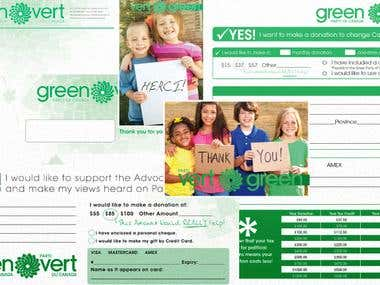 Stationary Design for the Green Party of Canada