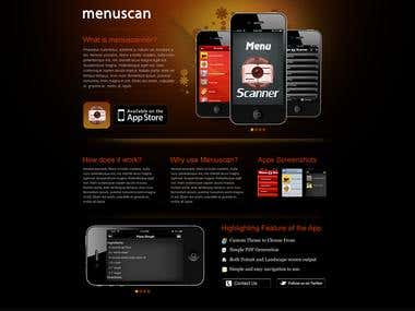 iPhone App promotion website design.
