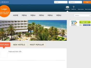 Hotels booking web-site