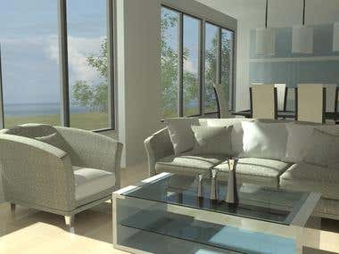 Interior/Exterior Modelling and Rendering