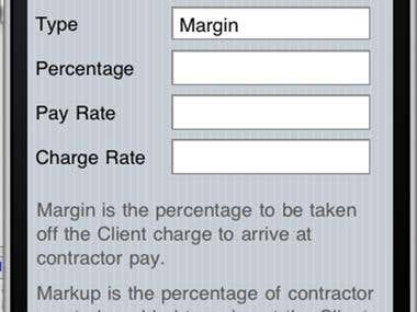 Calculator app for recruitment consultants.
