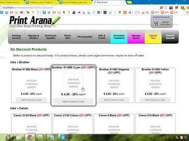 website for printarana.com.au (old)