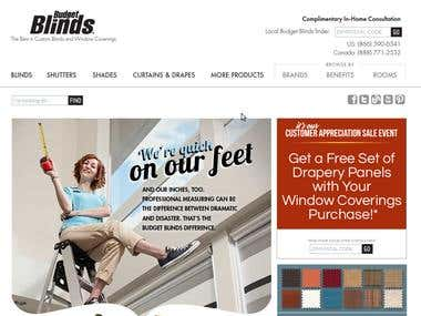 SEO project - www.budgetblinds.com - Google.com