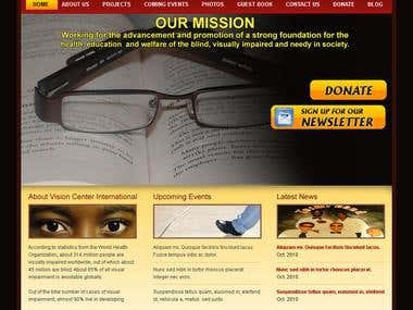 Non Profit Organization website with WordPress