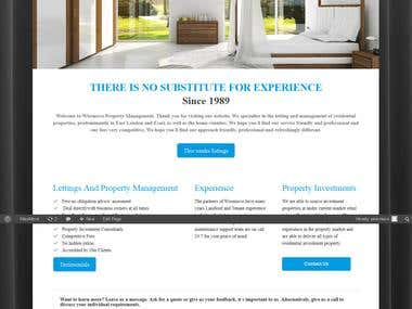 Real Estate Business Website Design