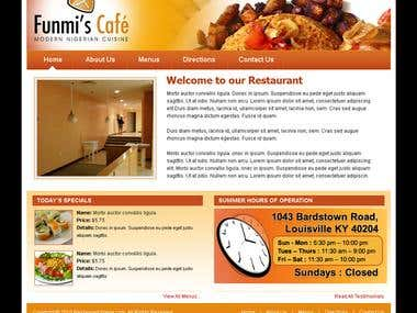 Restaurant Website with Wordpress CMS