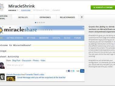 MiracleShrink: Extension for Google Chrome
