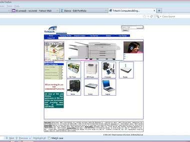It is computer hardware business website.