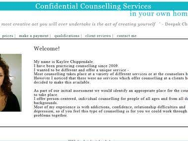 Confidential Counselling Services website