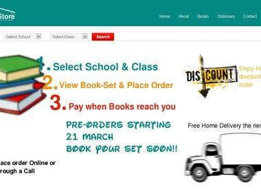 Website Design(Skool Store)