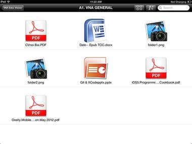 eDocViewer iPad app - Client - Server