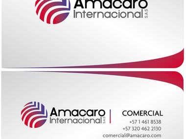 Cards for Amacaro Internacional