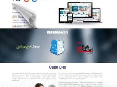 Website for German webdesign company