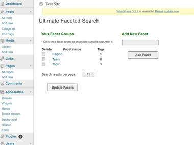 WordPress Plugin - Faceted Search